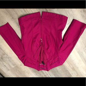Black house white market blazer, hot pink size 8